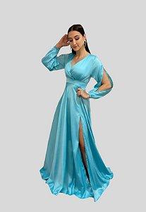 Vestido Longo Azul Tiffany Jade