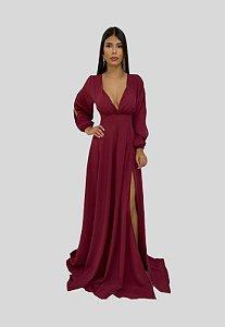 Vestido Longo Marsala Jade