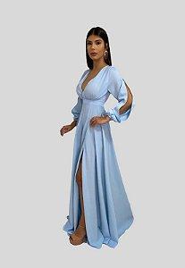 Vestido Longo de Festa Azul Serenety Jade