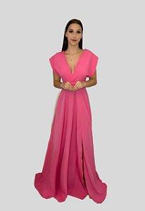 Vestido Longo Mil Formas Nana Marie Longo Rosa