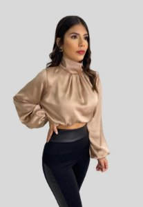 Camisa de Cetim Sophia