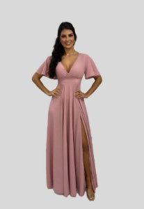 Vestido de Festa Longo Rose Luisa