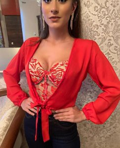Conjunto Top Blusa Vermelho