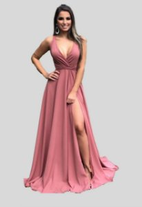 Vestido Longo Com Fluidez Charlote Rose