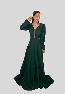 Vestido Longo Fluido Suzane Verde