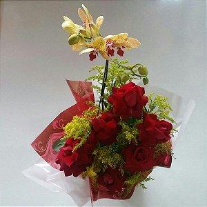 Orquídea e Rosas Selecionadas