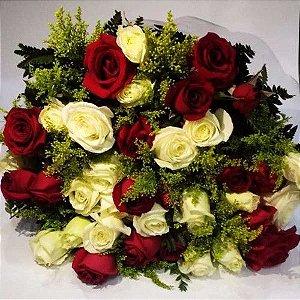 Bouquet de Rosas  Coloridas ou Vermelhas com 36 unds.