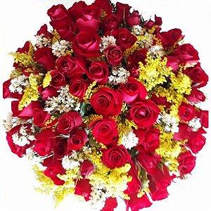 Bouquet de Rosas com 60 unds.