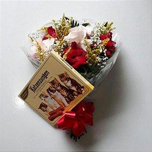 Bouquet de Rosas Selecionadas 6 unds + Chocolate