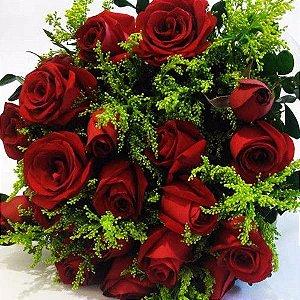 Bouquet de Rosas Vermelhas ou Coloridas com 18 unds.