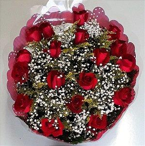 Buquê de Rosas Vermelhas ou Coloridas com 18 unds.