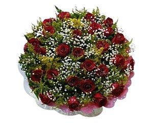 Buquê de Rosas Vermelhas ou Coloridas com 24 unds.