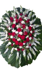 Coroa de Flores com Rosas e Boca de Leão