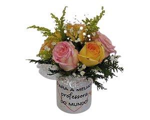 Caneca com Flores Personalizada