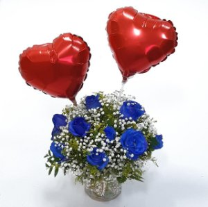 Flores com Balão