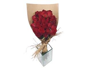 Buquê de Rosas Rústico