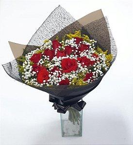 Buquê de Rosas Artesanal Cor Preta