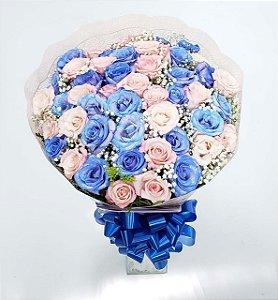 Buquê de Rosas Azuis e Rosas