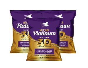 Matizador Platinum 3D Efeito Platinado Alise Hair - Kit 3 Sachês 50ml