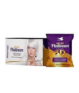 Matizador Platinum 3D Efeito Platinado Alise Hair - Kit 24 Sachês 50ml