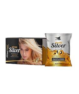 Matizador Silver 3D Efeito Desamarelador Alise Hair - Kit 24 Sachês 50ml