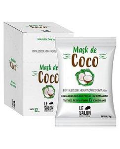 Máscara de Coco hidratação Profunda Le Salon - Kit 12 Sachês 30g