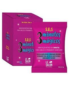 Máscara SOS 3 Minutos Mágicos hidratação Profunda Le Salon - Kit 12 Sachês 30g