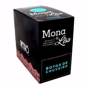 Botox de Chuveiro Retrô Cosméticos Mona & Lisa - Kit Com 20 Sachês 50G