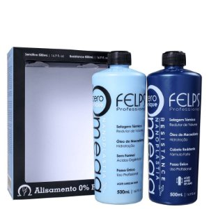 Escova Progressiva Omega Zero Kit Felps Resistance e Sensitive 2x500ml