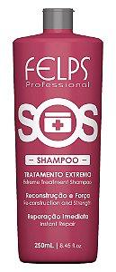Shampoo de Reconstrução Extrema SOS Felps Professional 250ml