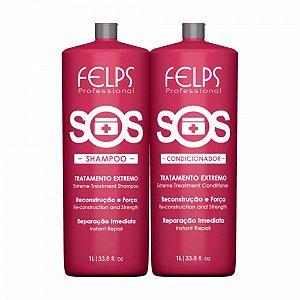 Kit Reconstrução SOS Shampoo e Condicionador Felps Professional 2X1000ml