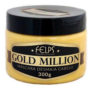 Máscara Capilar Desmaia Cabelo Gold Million Felps Profissional 300g