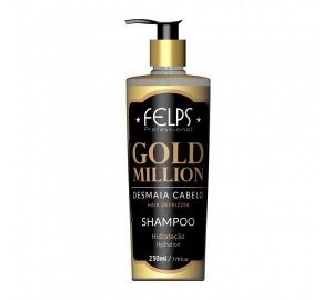 Shampoo Desmaia Cabelo Gold Million Felps Professional 250ml