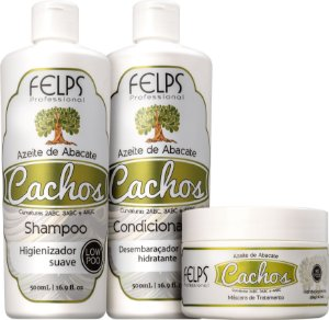 Kit Felps Profissional Cachos Azeite de Abacate (3 Produtos)