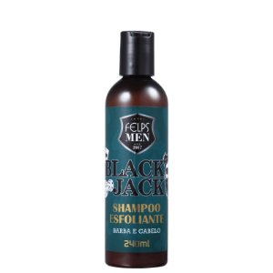 Shampoo Esfoliante Barba e Cabelo Black Jack Felps Men 240ml
