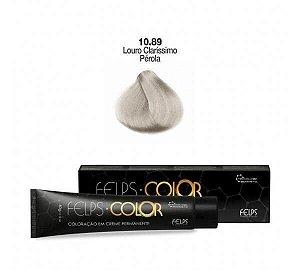 Coloração em Creme Louro Muito Claro Pérola Matizador 9.089 Felps Color Professional 60g