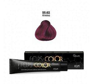 Coloração em Creme Ameixa 55.62 Vermelho Especial Felps Color Professional 60g