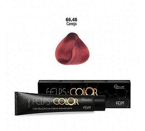 Coloração em Creme Cereja 66.46 Vermelho Especial Felps Color Professional 60g