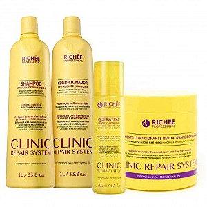 Kit Clinic Repair System Reconstrução e Hidratação Richée Professional (4 Produtos)
