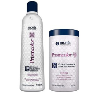 Pó Descolorante + Água Oxigenada Kit Prismcolor 20 Vol Richée Professional