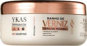 Máscara Capilar Banho de Verniz Brilho Máximo Ykas 250g