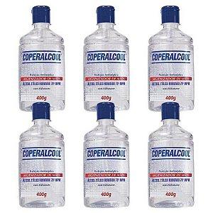 Álcool Gel Higienizador De Mãos 70° Coperalcool 400G - 6 Unidades