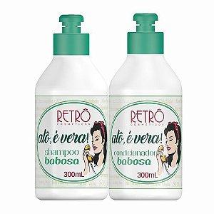 Shampoo e Condicionador Babosa Alô é Vera Retrô Cosméticos - Kit 2X300ml
