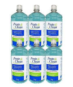 Álcool em Gel Higienizador Antisséptico Prote & Clean 1Kg - 6 Unidades
