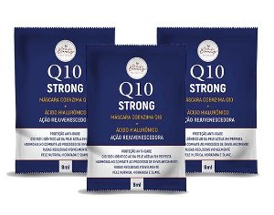 Creme Facial Q10 Rejuvenescedor Ácido Hialurônico Sachê 8ml - 3 Unidades