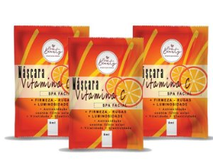 Máscara Facial Vitamina C Spa Facial New Beauty Sachê 8g - 3 Unidades