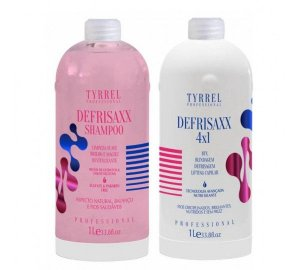 Kit Tratamento 4 EM 1 Defrisaxx Tyrrel Professional 2X1000ML