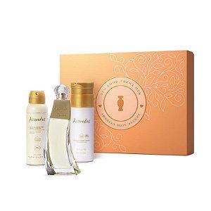Kit Presente Dia das Mães Accordes Desodorante Colônia 80ml + Creme Corporal 200ml + Antitranspirante 75g