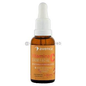 Sérum Facial Vitamina C Ácido Hialurônico e D-Pantenol Avenca Cosméticos 30ml