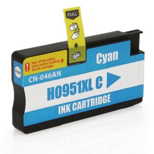 Cart. de Tinta Compat. MyToner para HP 951XL 951 CN046A Ciano | Officejet 8600W Officejet 8100